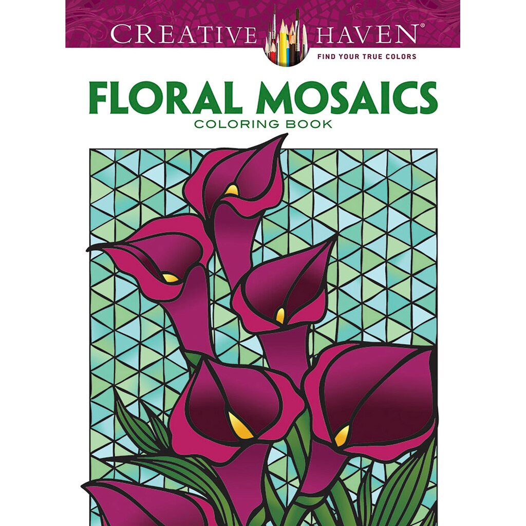 Creative Haven Floral Mosaics Coloring Book